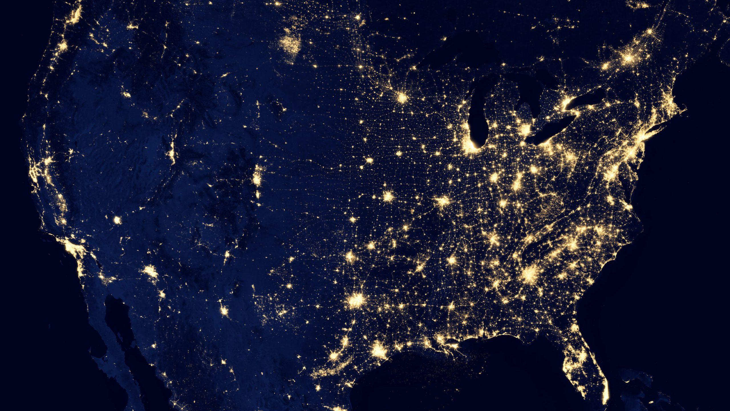 Map of America - tech hubs
